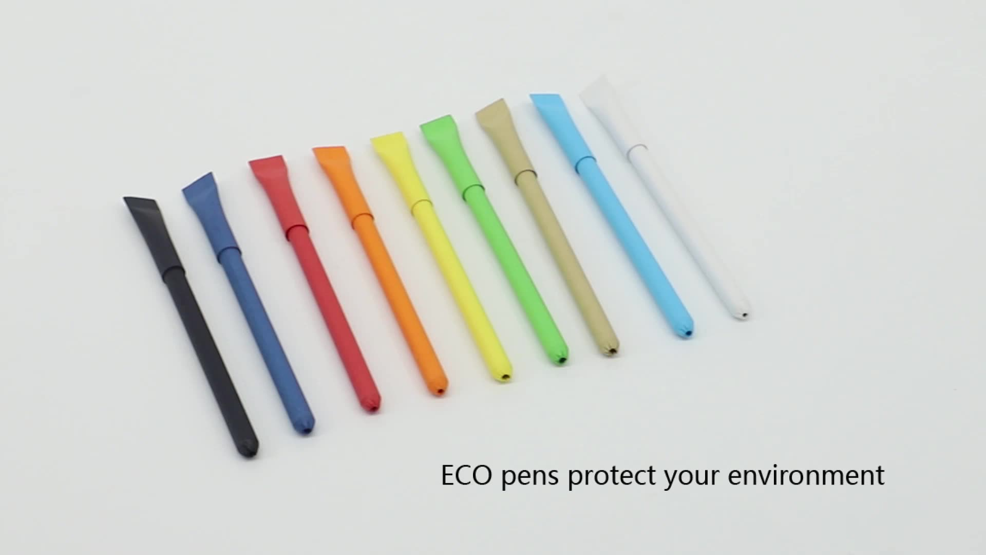 Customised Eco Pen Biodegradable 1.0mm Paper Eco Pen