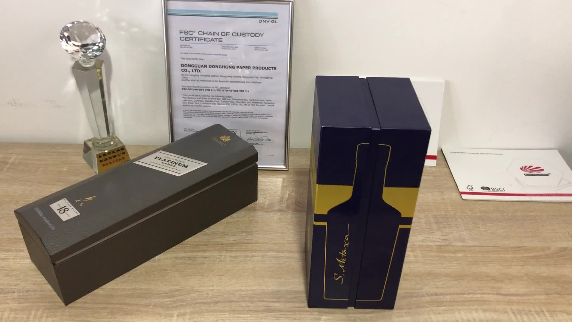 Packaging Single Gift Packing Whisky Drinking Shot Wine Glass Box