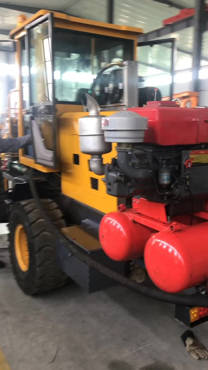 Multi-functional professional wheeled pile driver for frozen soil