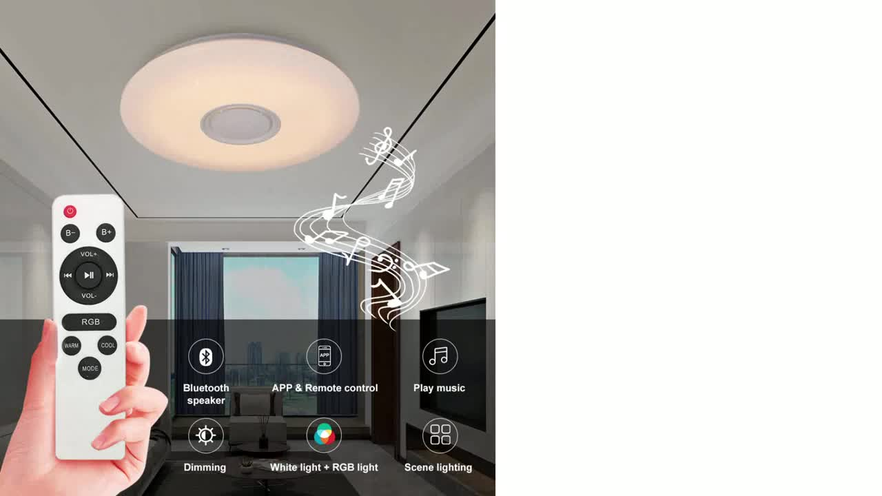 ENVIS bluetooth led ceiling lights220V 48W60W CE ROHS certificate home hotel bar party decor rgb led ceiling panel light
