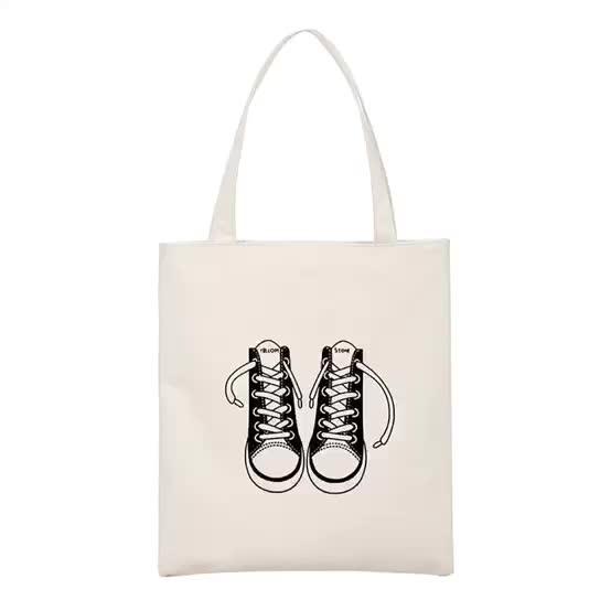 カスタム布のキャリーバッグ 100% 天然コットンショッピングトートキャンバスバッグ