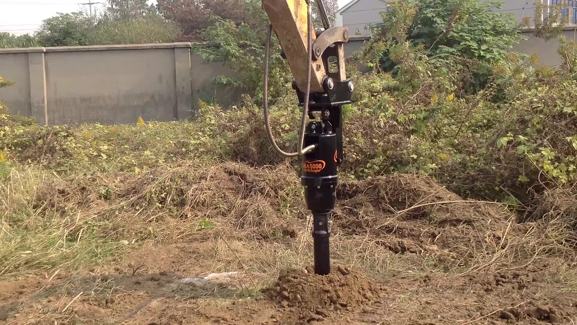 Ground Hole Drilling Machines, Digger, Auger For Excavator, Hydraulic Auger Drive
