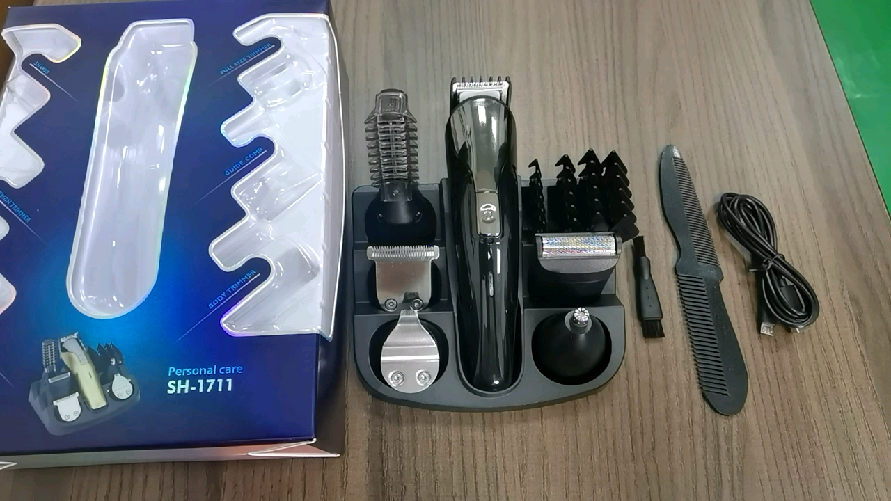 Electric Cordless Hair Cut trimmer men Grooming kit Stainless Steel Blades professional hair clippers trimmer hair set for Men