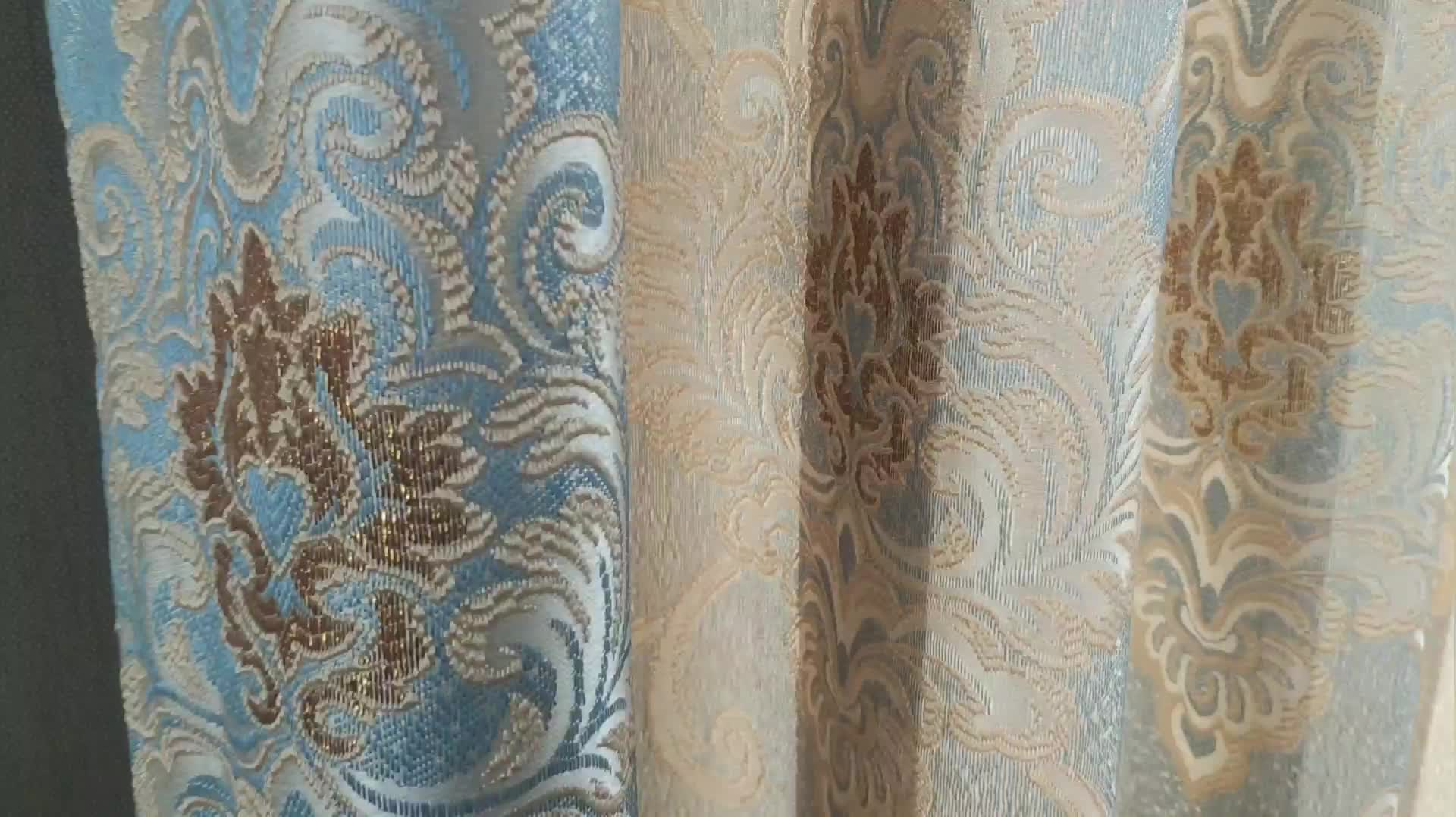 Ready Made Classical Collection Window Drape Modern Jacquard Curtain For Living Room Bedroom Thick High Shade Curtain