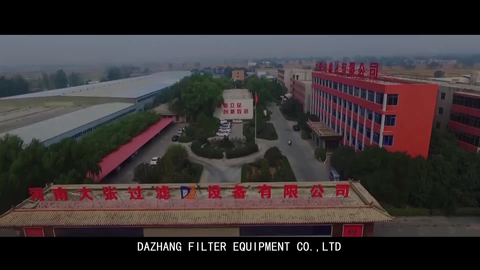 Shanghai Dazhang Automatico Piega Filtro Pressa a Vite per Comunale Comunale Delle Acque Reflue Disidratazione