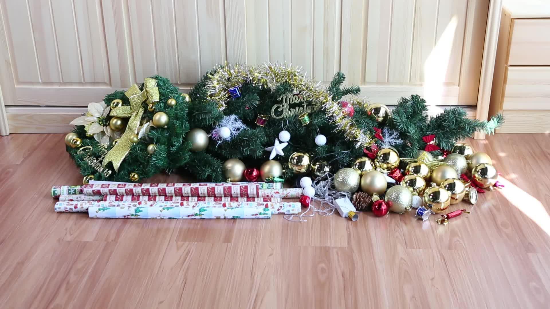 Vacances de luxe décoratif lumière de noël sac de rangement pour stockage de noël
