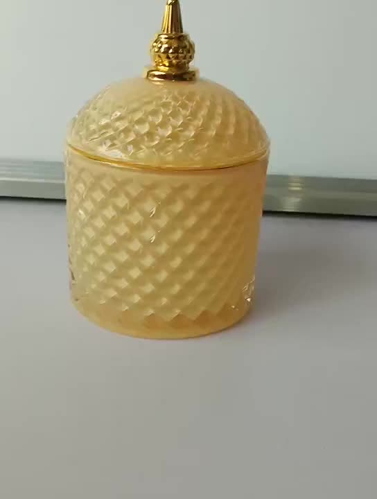 Wholesale luxury empty glass candle jars for making candles in bulk