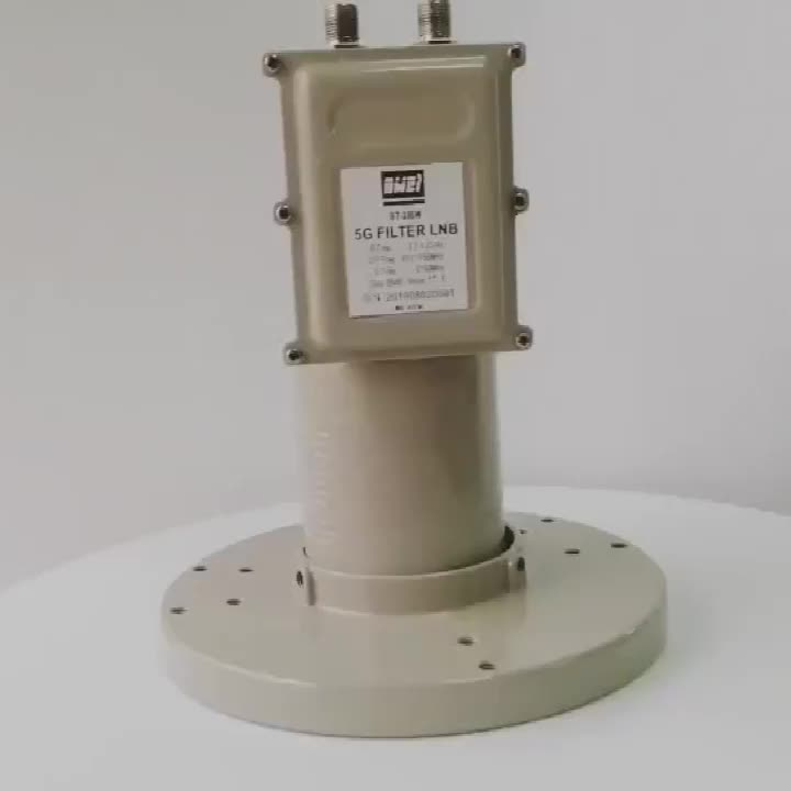 3.7GHz-4.2GHz High Gain C band Twin Output lnb with Excellent Polarization Isolation for 5G Filter LNBF