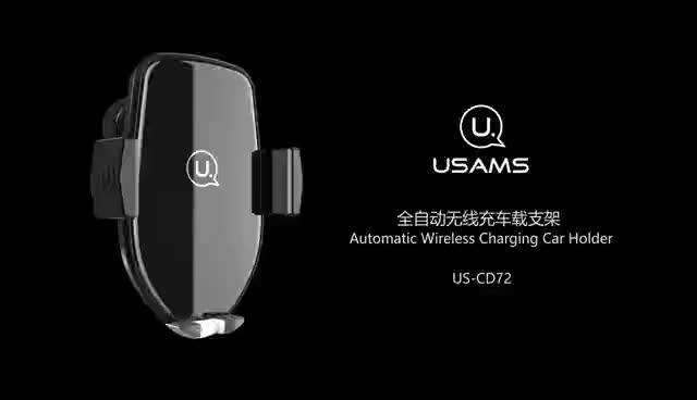 USAMS CD72 Automatic Holder 4-6 inches mobiles Phone Holder Wireless Car Charger