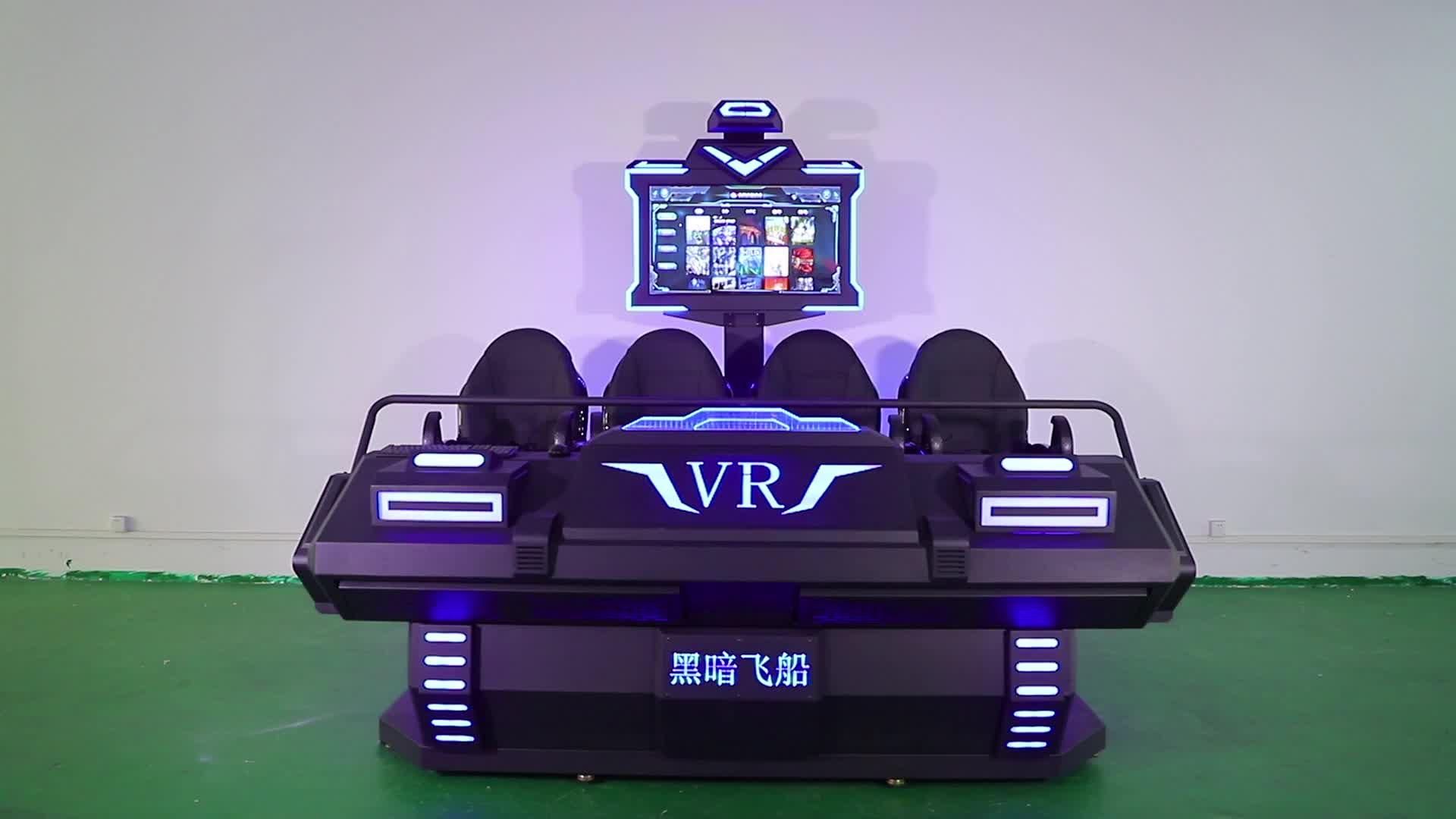 Mô Hình Mới 9D VR Điện Nền Tảng 4 Ghế Thực Tế Ảo Điện Ảnh Mô Phỏng Máy