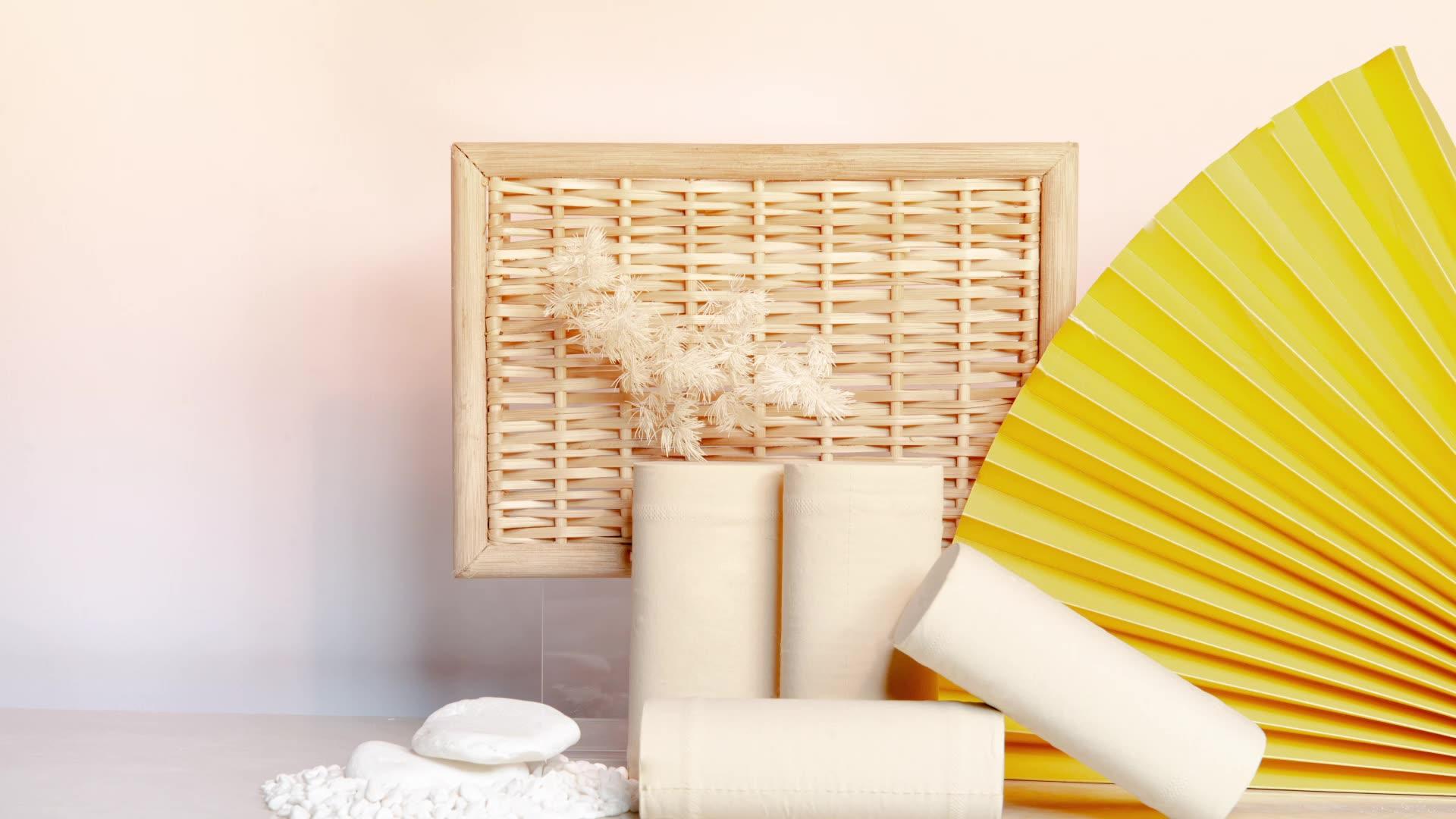 Sinopec Groep Fit Huid Import Fabriek Prijs Bamboe Toiletpapier Roll
