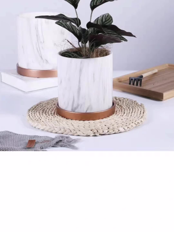 Mayco Vintage 2-Piece Garden Metal Flower Stand Designs Decorative Hanging Planter