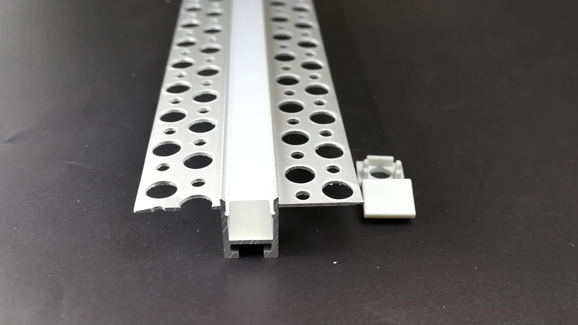 Drywall Surface mounted led strip aluminium profile and Flat T extrusion channel for ceiling or wall lights