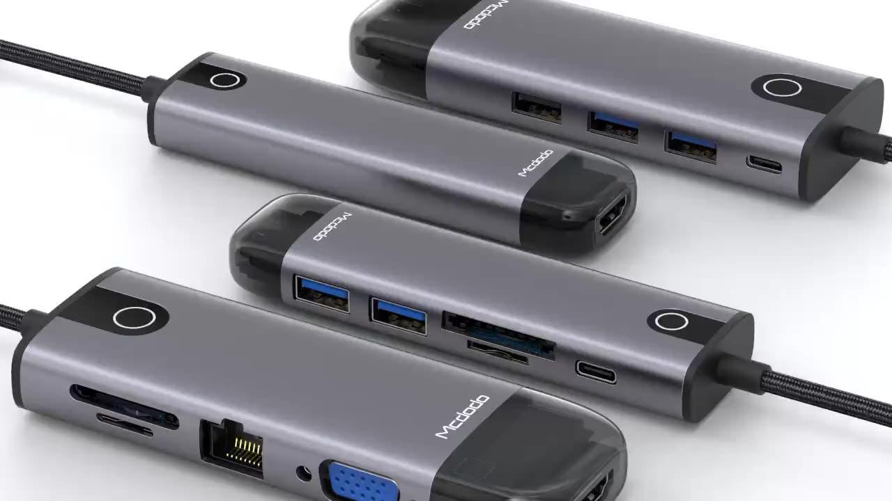 USB3.0 5 In 1 çoklu Usb yerleştirme Cargador C tipi Hdmi 4K Hub şarj 4 Port Usb C hub 3.0