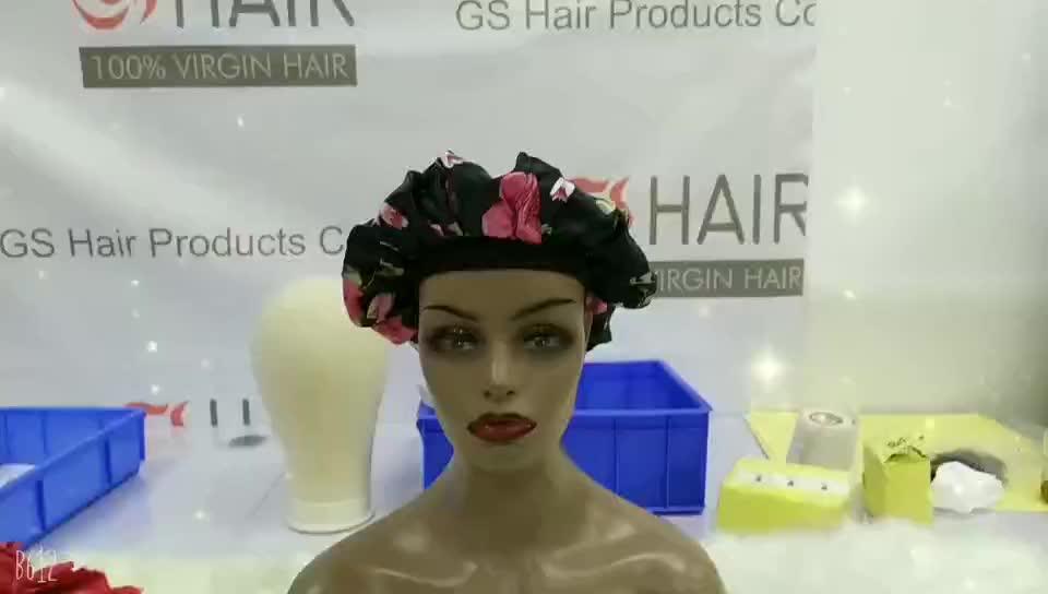 ผลิตภัณฑ์ร้อน GS ผมขายส่งผ้าไหมเซ็กซี่เสือดาวที่กำหนดเองผ้าไหม Bonnet ดอกไม้หมวก, ซาตินเรียงรายนอนหลับหมวก