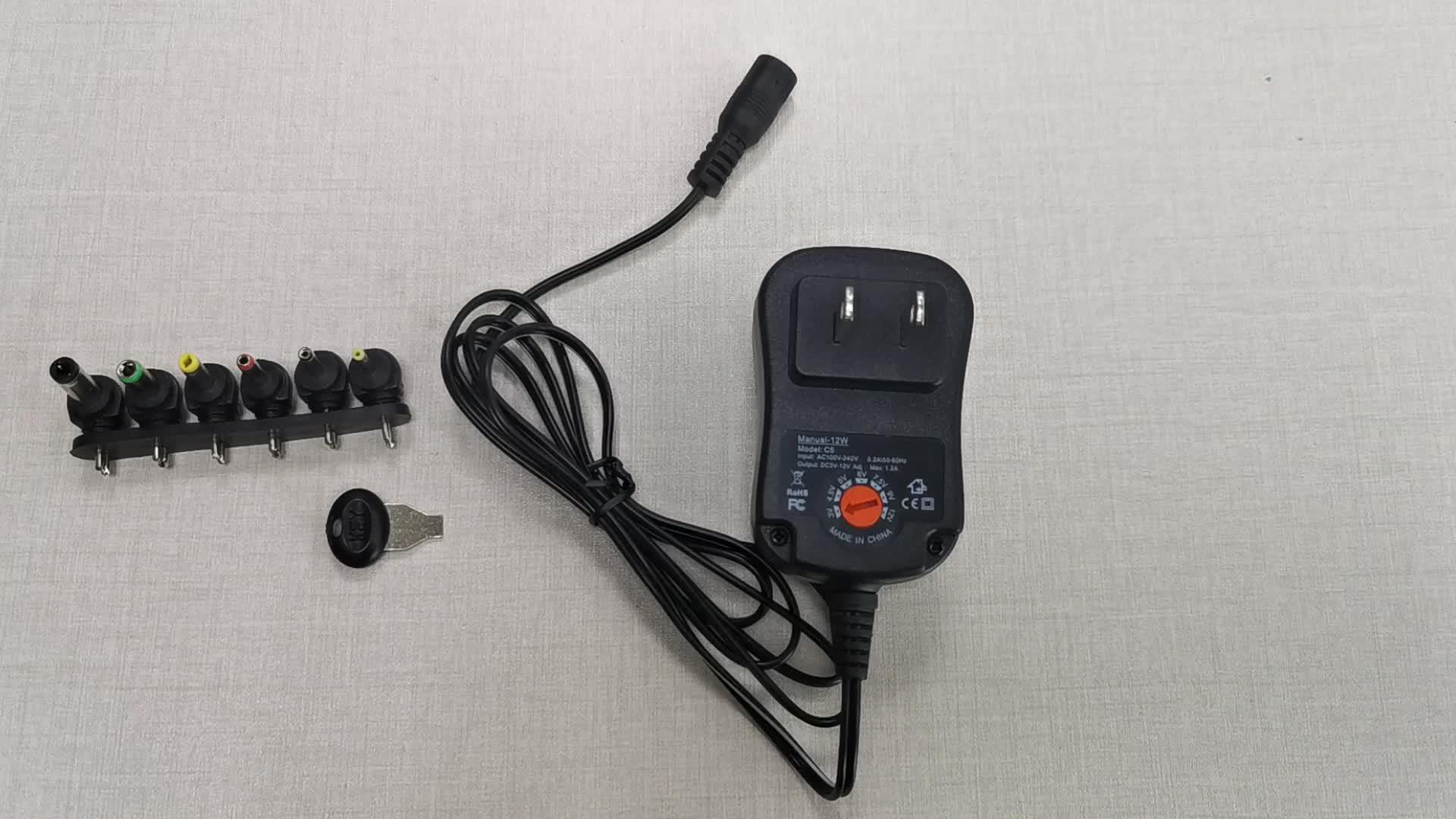12 Вт Универсальный зарядное устройство AC/DC адаптер Импульсные блоки питания с 6 выбор адаптер вилки, подходит для 3 В до 12 устройство
