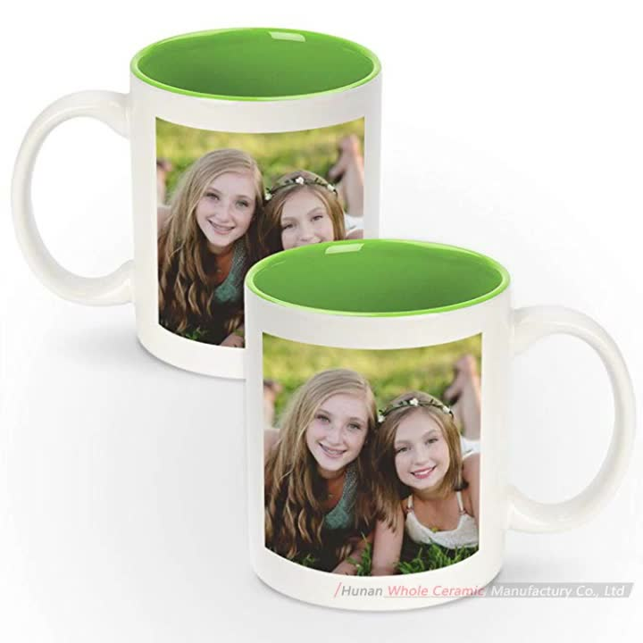 Wholesale Personalized 11oz 20oz big plain White Ceramic coffee Mug with custom logo full wrap printing sublimation mug