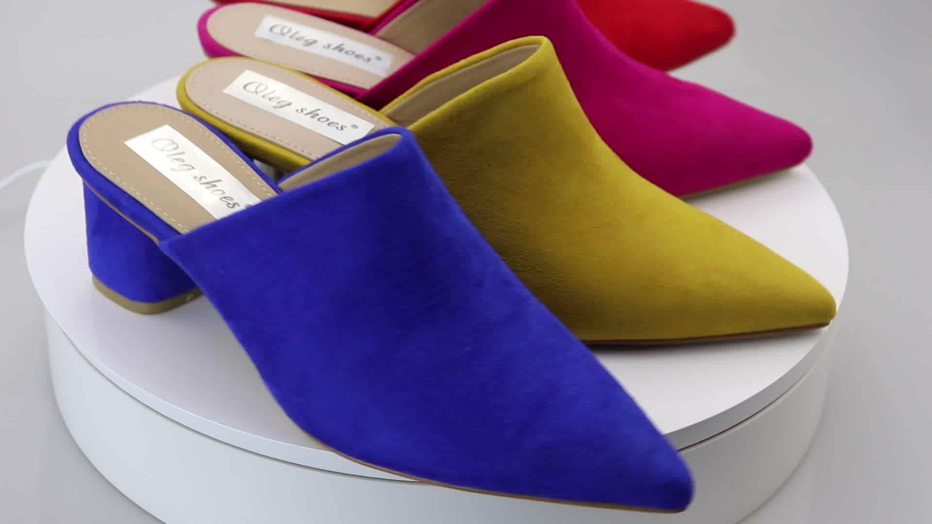 Mới nhất thời trang toe nhọn mules giày phụ nữ Sang Trọng Ăn Mặc Giày Dép