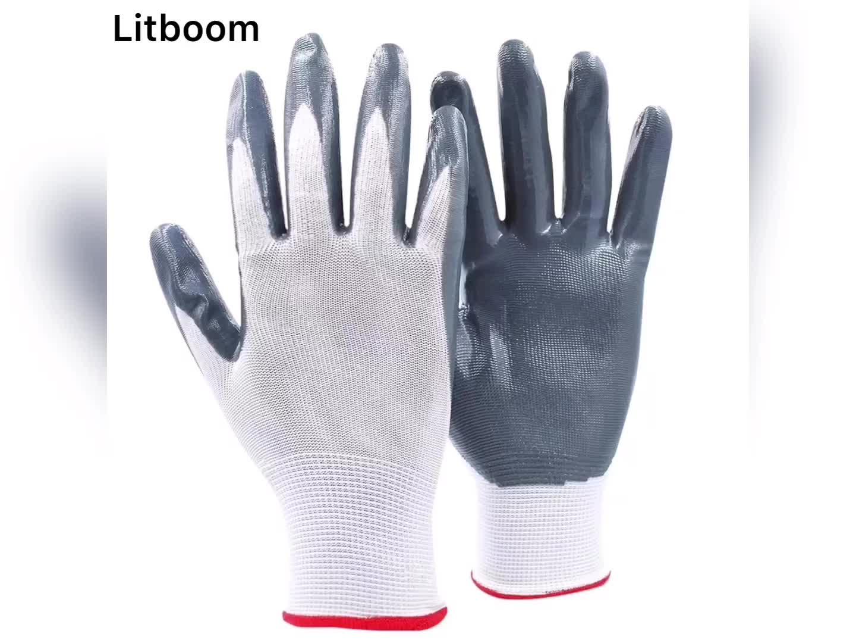 VEILIGHEID Grey Anti Olie Nitril Foam Gecoate Palm Hand Werken Handschoenen