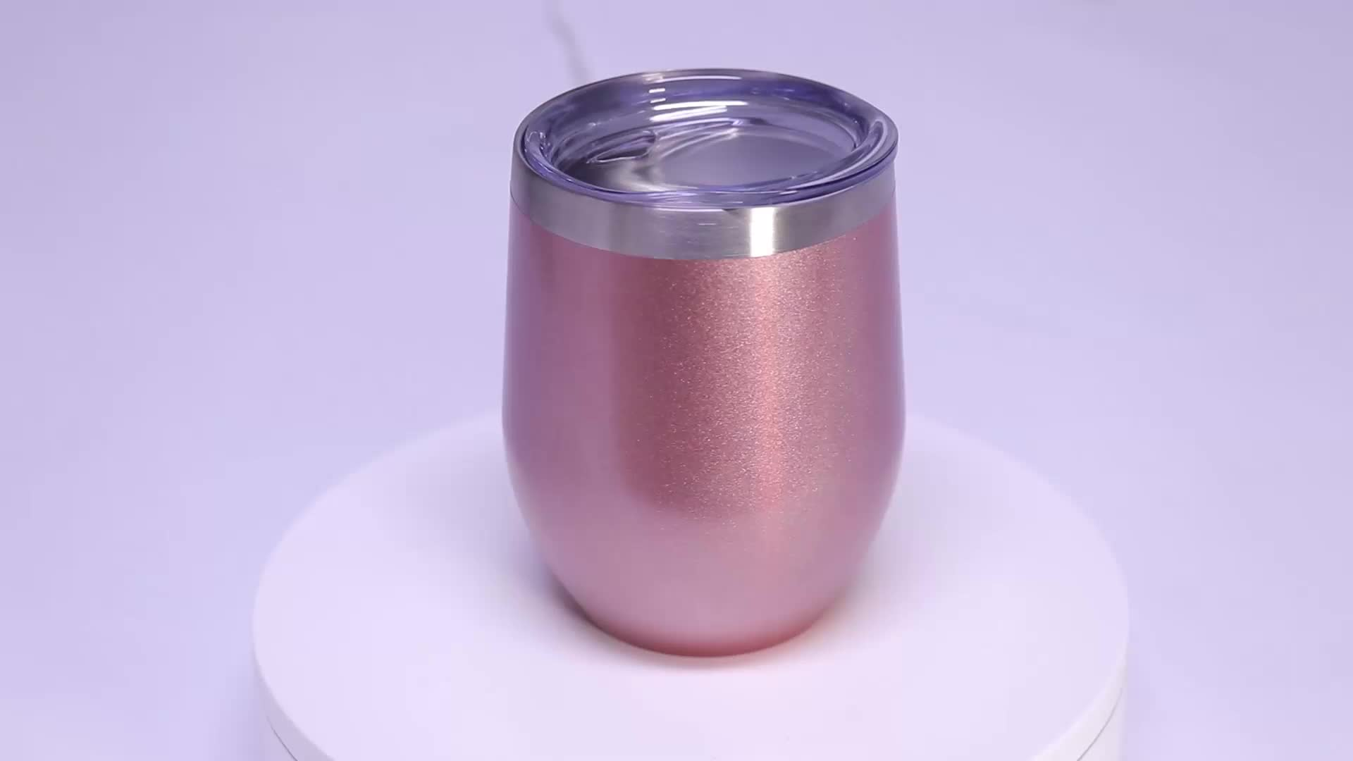 Unionpromo hot sales 16oz 12oz stainless steel wine tumbler with lid straw