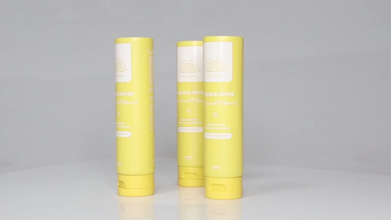 Custom Eco Friendly Empty Cosmetics Tubes Container Packaging for Lotion and Cream