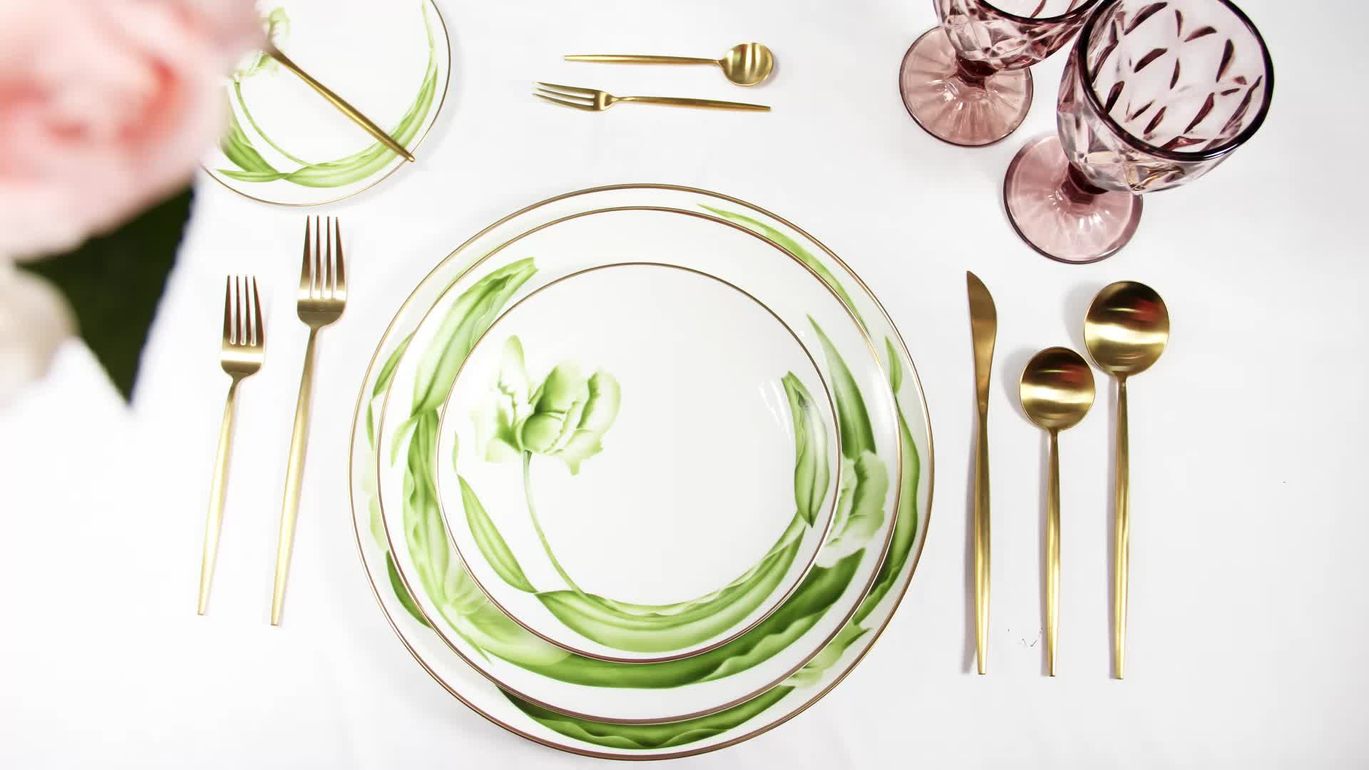 Grosir Mewah Rusia Kerang Tropis Tuscan Valentine Putih Dinner Ware Porselen Tulang Cina Makan Set