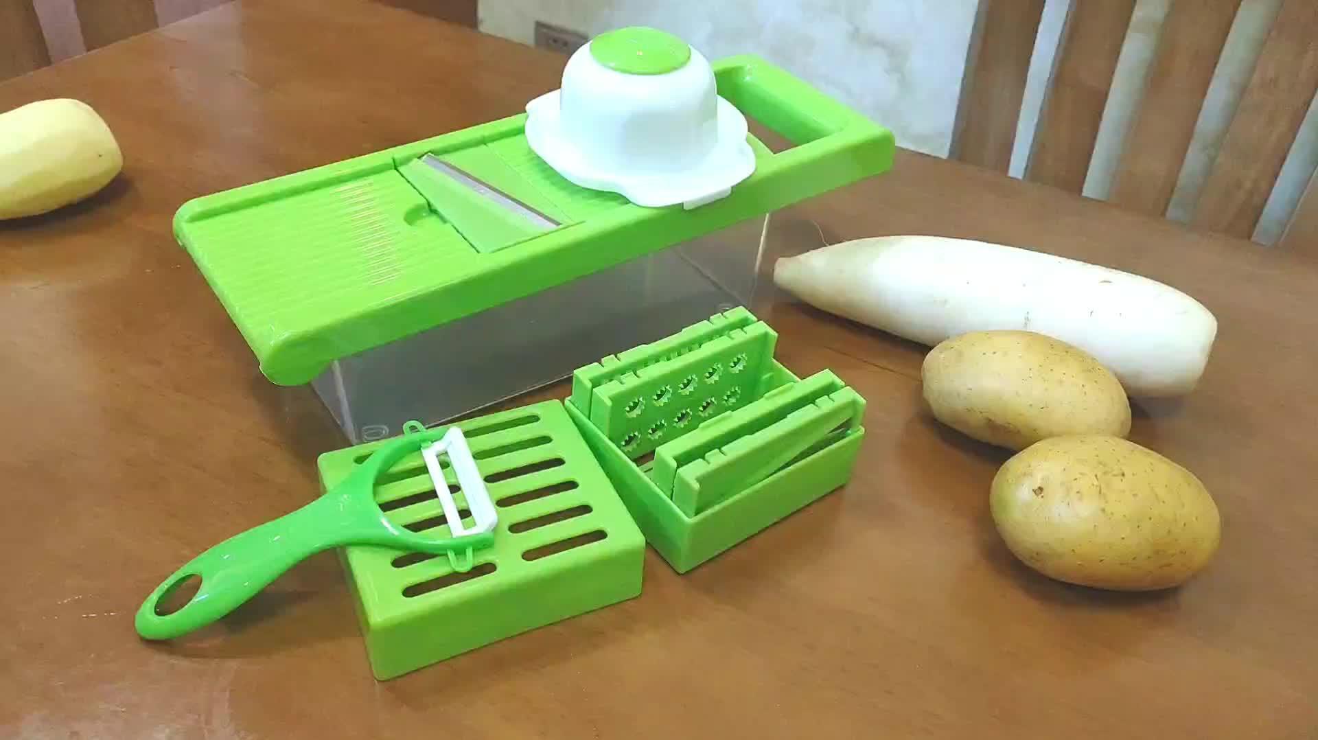 YF Multi Purpose Kitchen Accessories Manual Vegetable Chopper Garlic Onion Dicer Vegetable Slicer Cutter