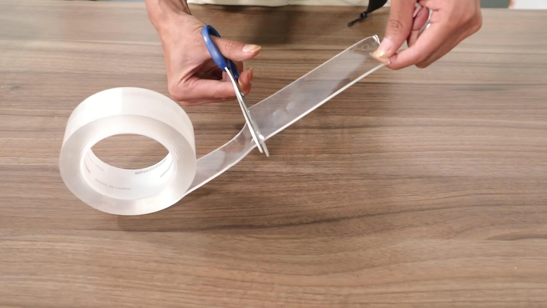 Heißer verkauf silikon klebrige gel grip saug nano magic tape
