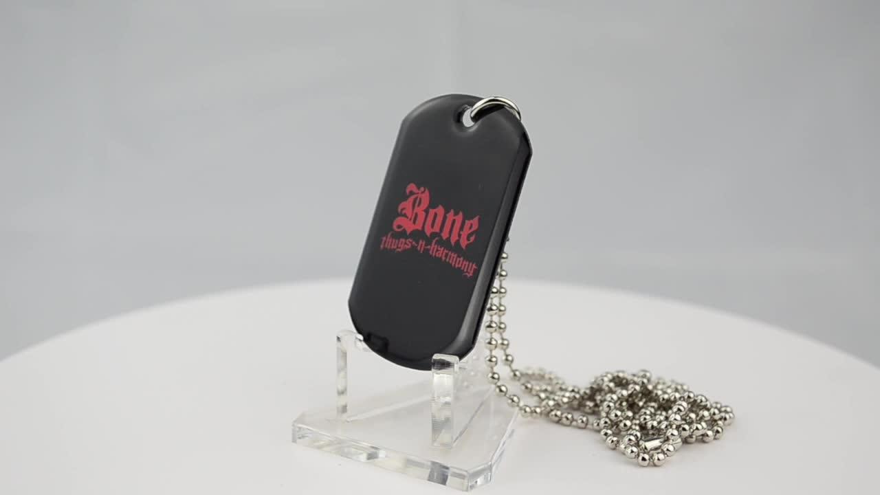 High quality custom shape logo jewelry tags wholesale military dog tags