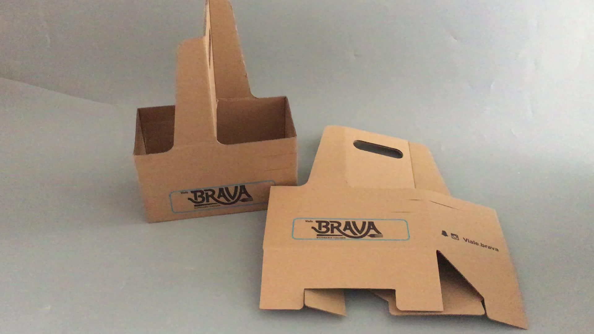 संभाल के साथ क्राफ्ट केक बॉक्स कस्टम कागज बॉक्स biodegradable खाद्य पैकेजिंग