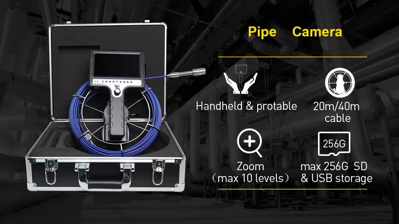 Industrial Handle Screen Drainage Inspection Camera with DVR Recording