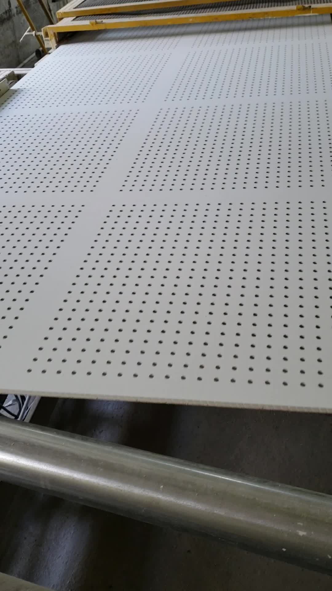 Perforated Gypsum Board Acoustic Perforated Gypsum Ceiling Tiles