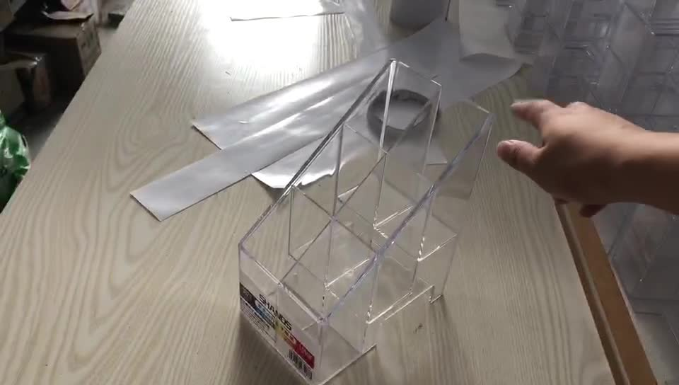 2019 clear cheap injection mould plastic pen display acrylic pen dispenser