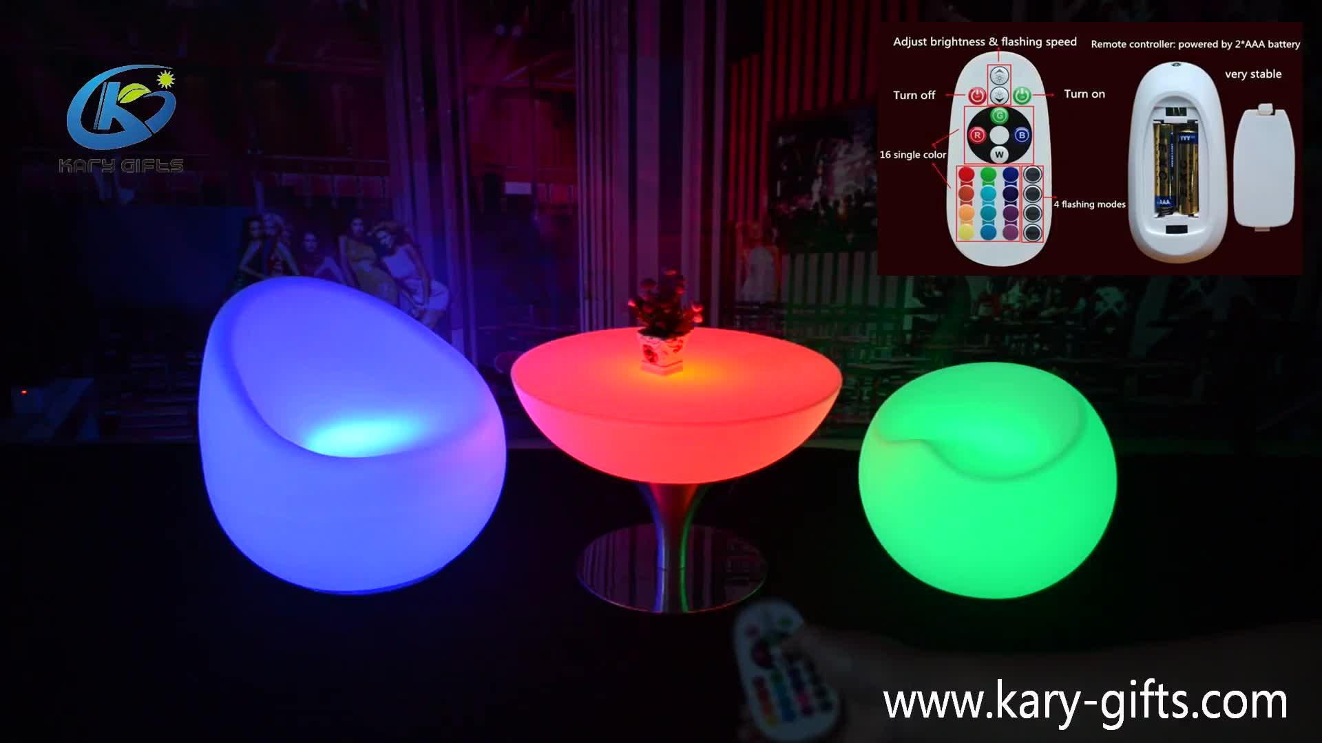 Comercial LED muebles Casino silla LED Taburetes de Bar