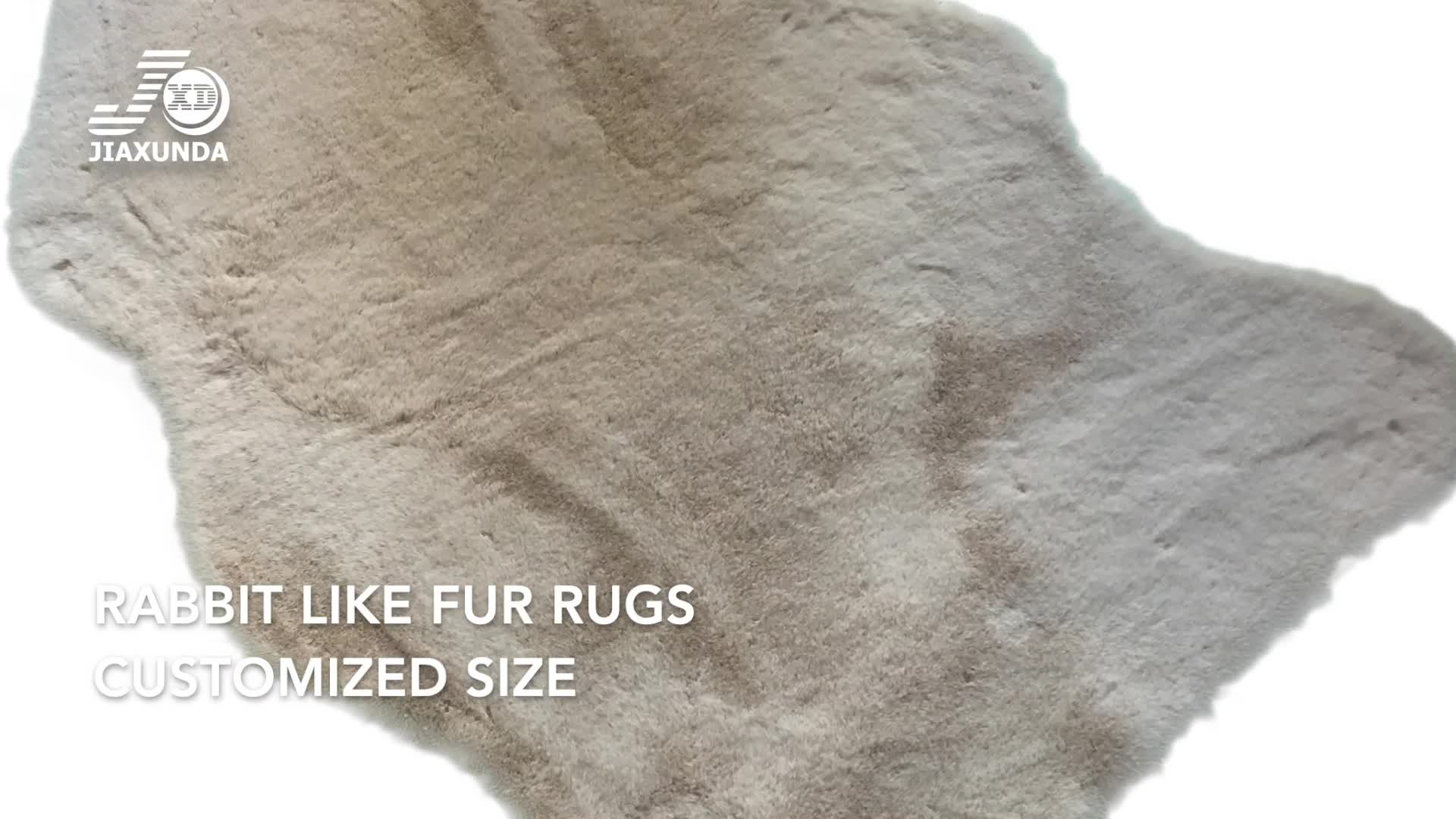 Handmade Faux Rabbit Fur Style Anti-Skid Safe and Hypoallergenic for Home Decoration Shag Area Rugs,