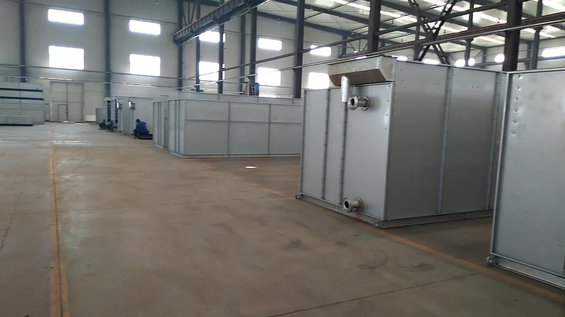 100ton Counter Aliran Closed Circuit Menara Pendingin Air untuk Pabrik Kimia Mudah untuk Mempertahankan