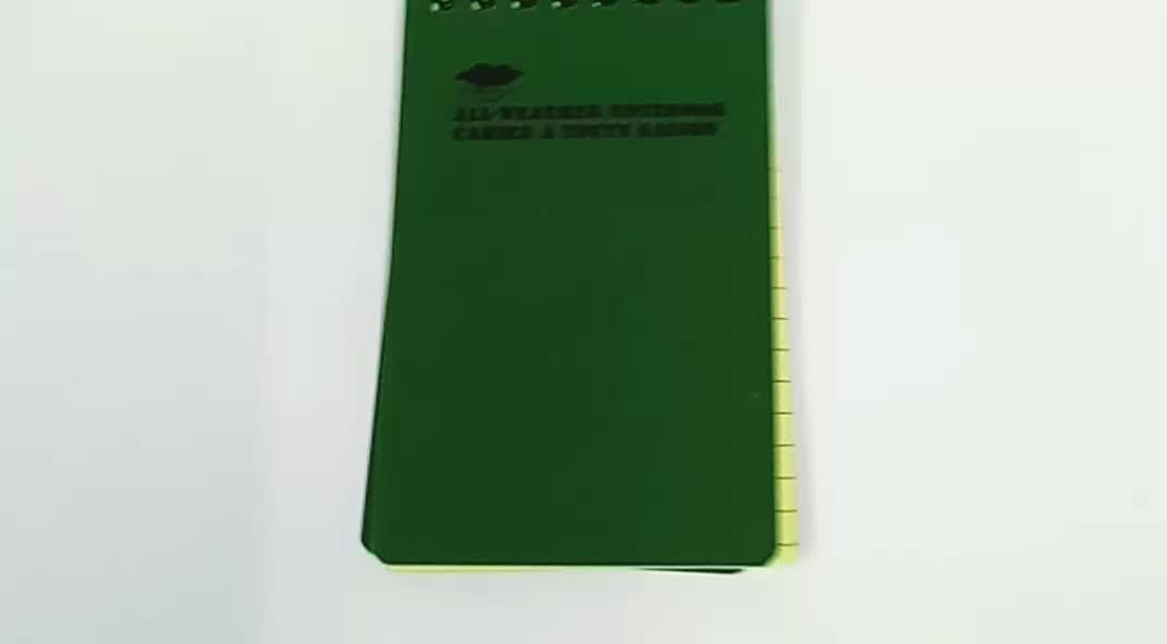 สภาพอากาศทั้งหมด PVC กันน้ำกระดาษโน้ตบุ๊ค/Notepad