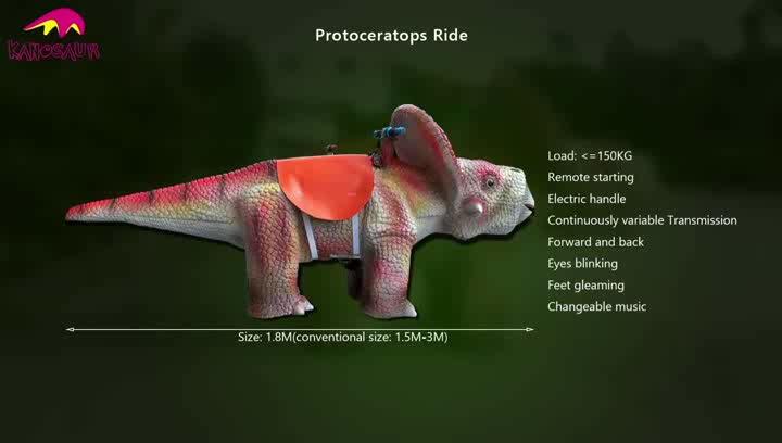 KANO-255 Indoor Playground Ride On Protoceratops Scooter