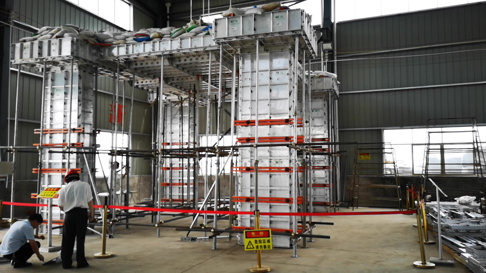 Fast construction speed aluminium quick deck/slab system for building house