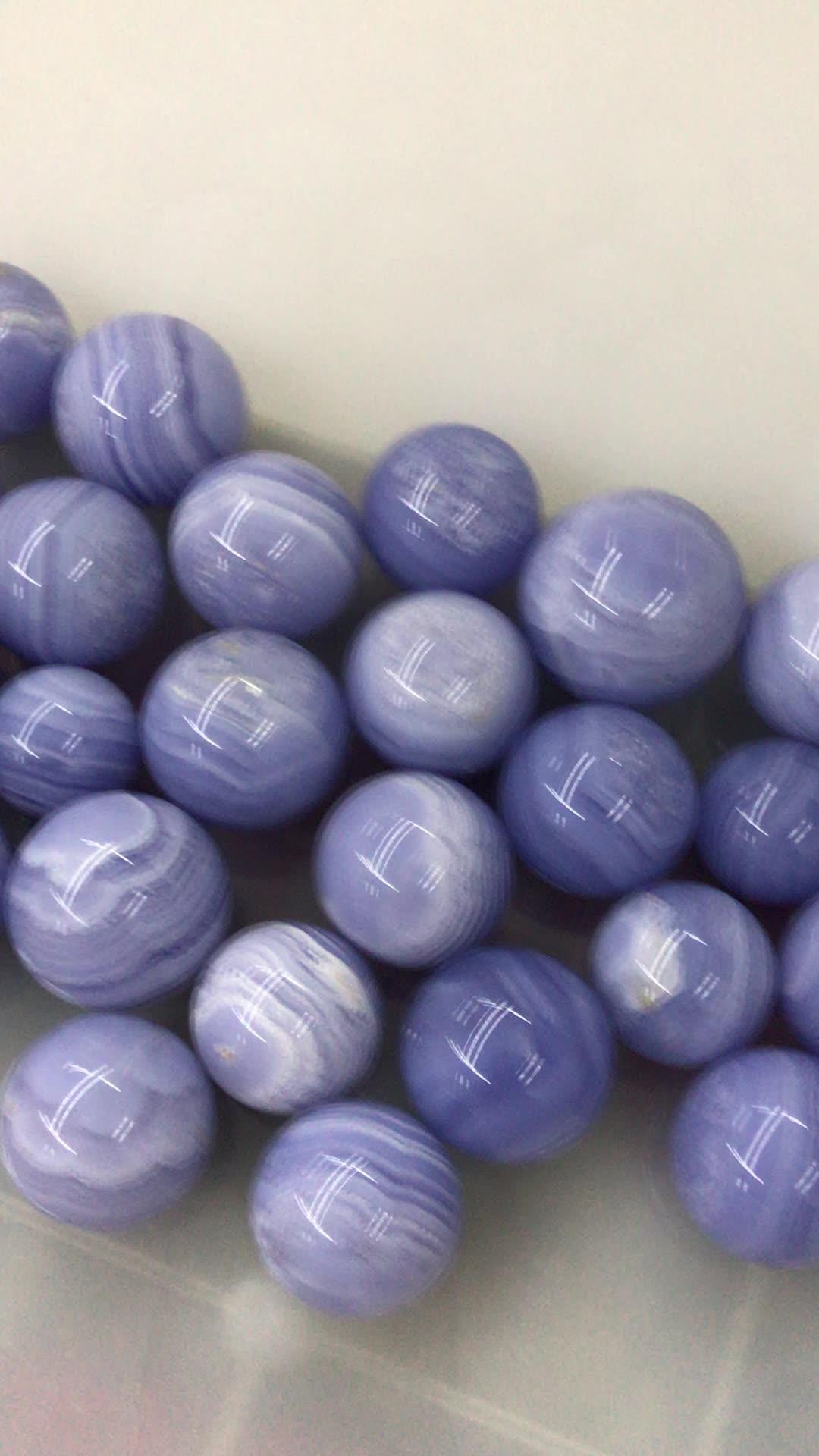 Natural de alta calidad de cristal de piedra tallada Esfera de ágata de encaje azul esfera