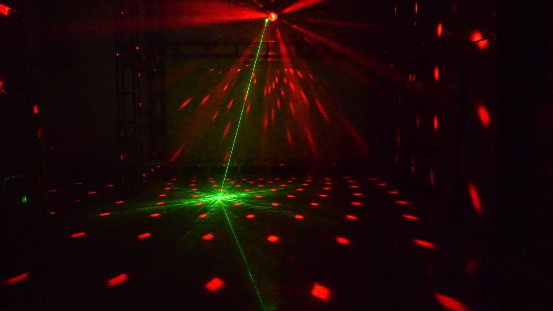 YSH डिस्को लेजर डीजे रोशनी आरजीबी मंच सजावट प्रोजेक्टर एलईडी जादू गेंद KTV लेजर पार्टी प्रकाश Dmx के लिए रिमोट कंट्रोल शादी