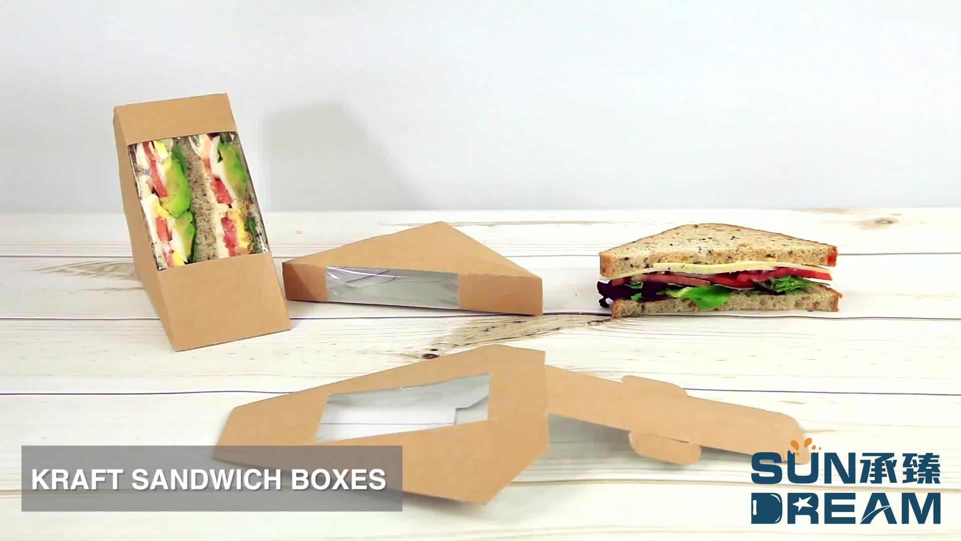 Fashion box voor sandwich/Cool en schattig sandwich verpakking dozen/Populaire sandwich doos