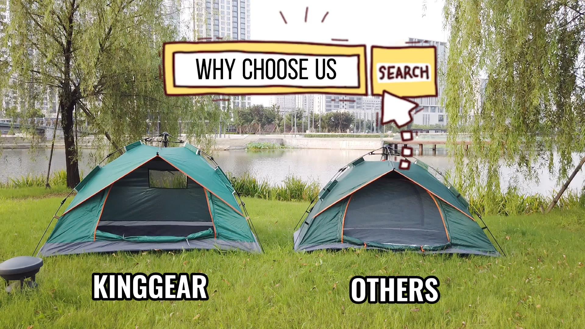 Tienda de campaña instantánea KingGear para exteriores, resistente al agua, para 1-2 personas, senderismo, militar, playa, plegable, automática