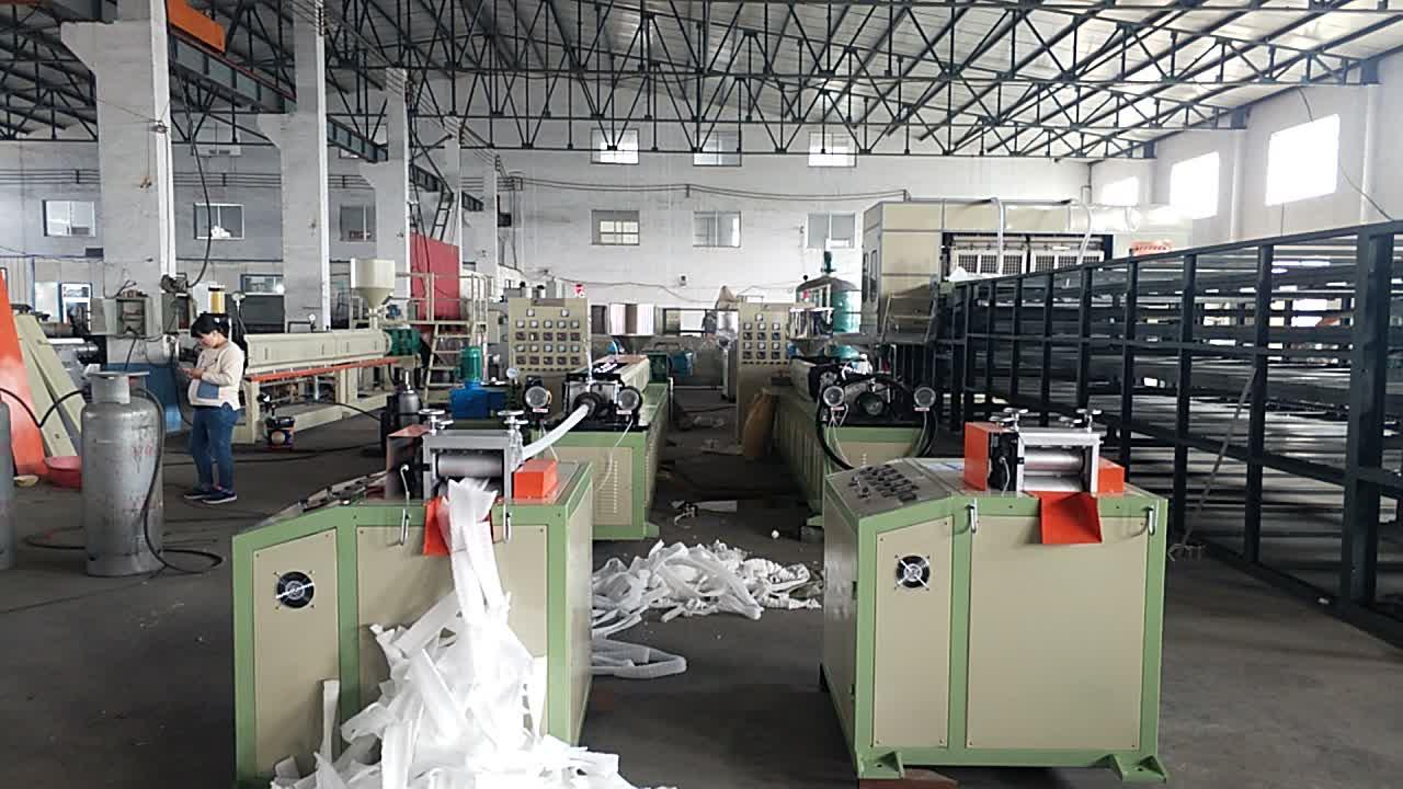 PE-Schaumnetzfruchtabdeckungs-Extrudiermaschine zur Herstellung von Epe-Schaum-Schwammbeutel-Nettoproduktionslinie zur Herstellung von Epe-Schaum