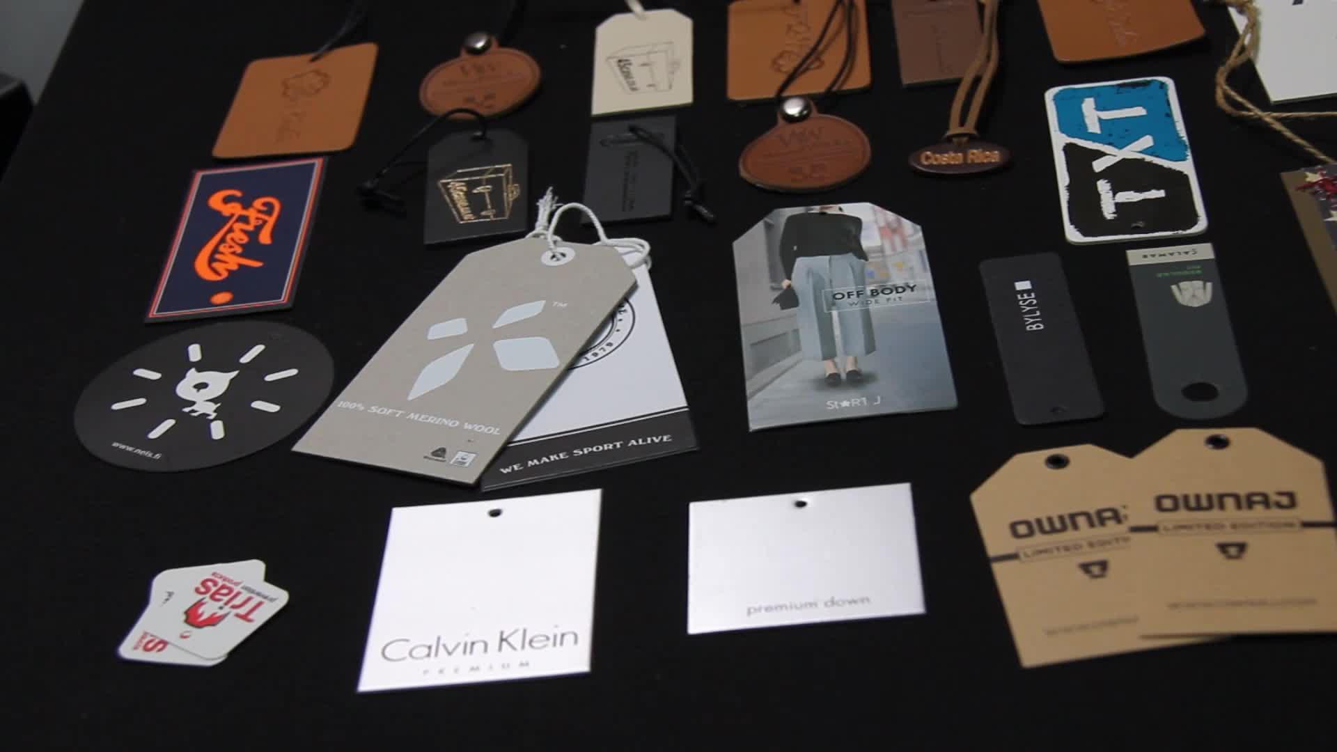 custom garment apparel accessories dress label & paper hang tag