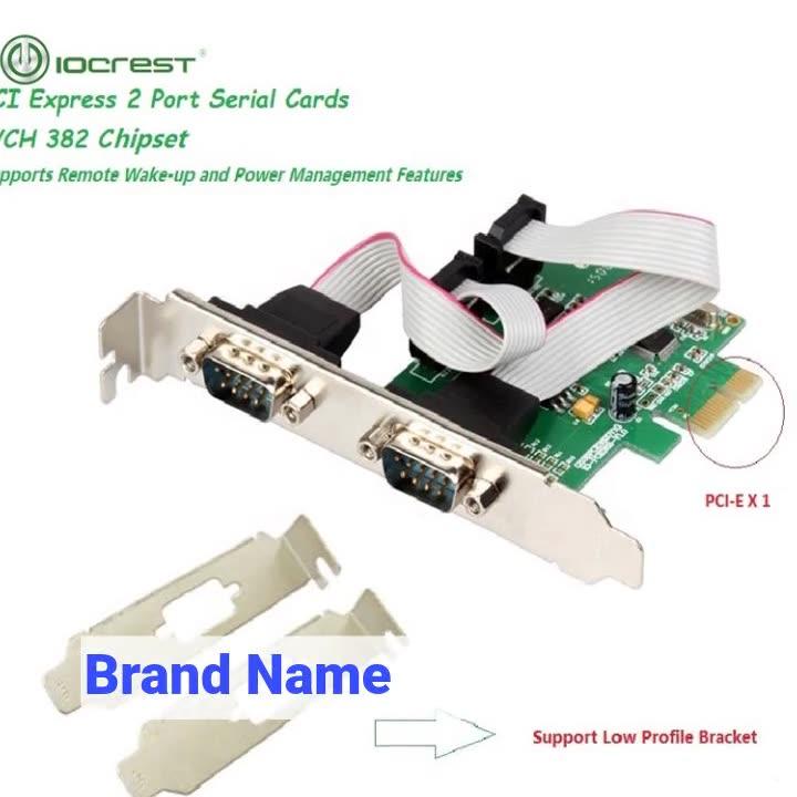 IO Crest rs232 db9 PCI-e 2 port serial card