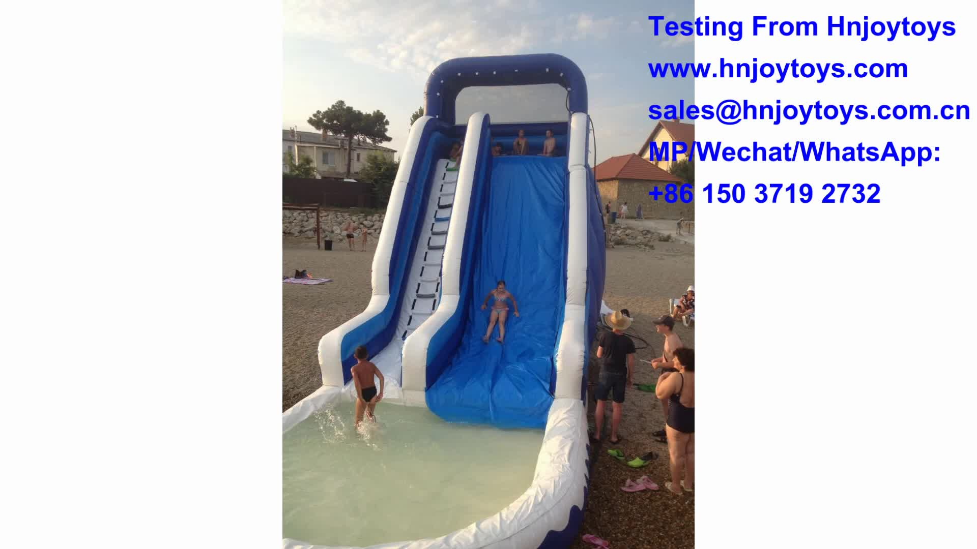 HOT Sale Summer Game Inflatable Pool Water Slide With CE