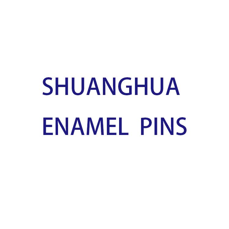 Shuanghua factory cheap nickle plated metal custom enamel pins