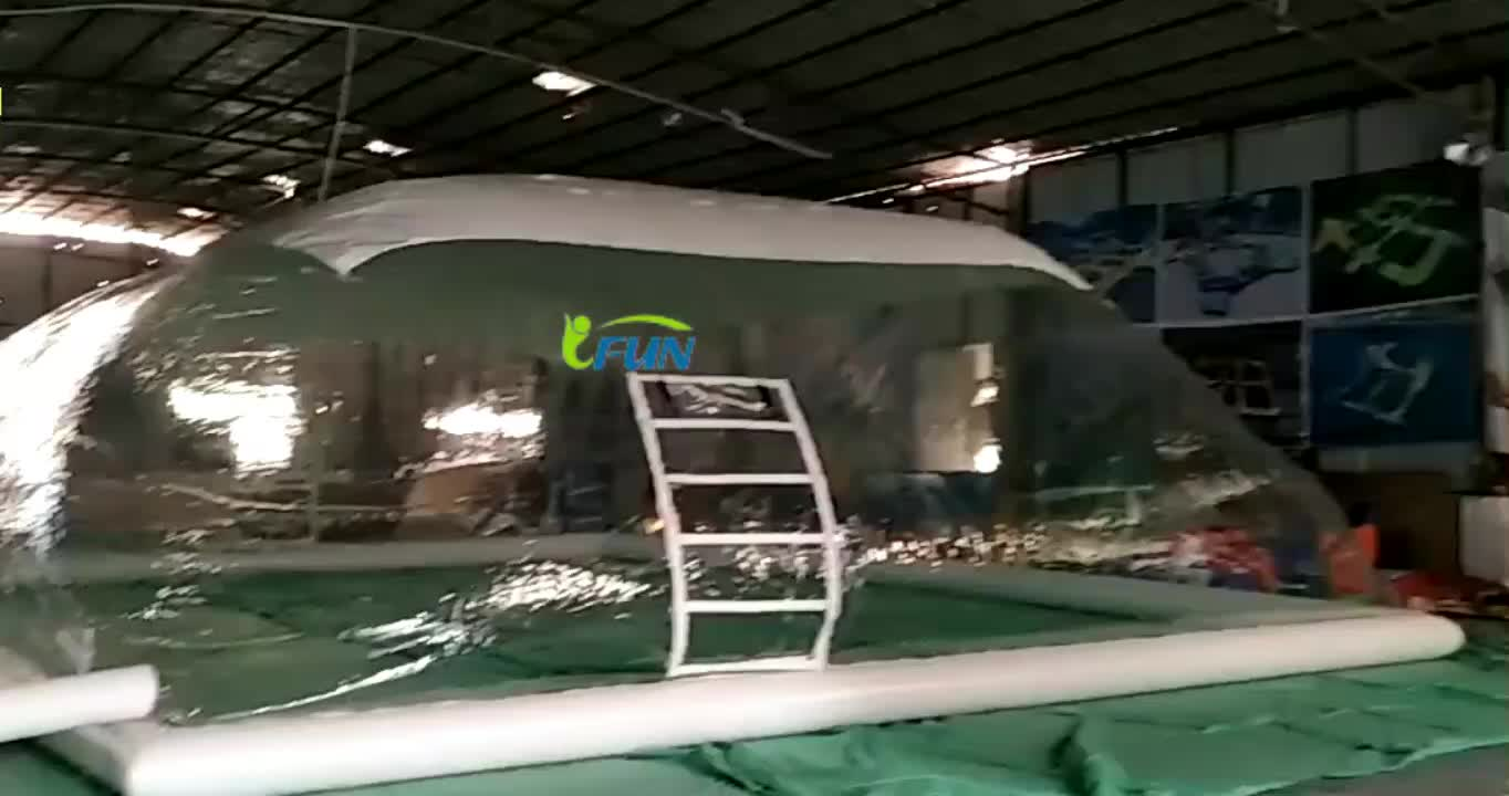 high quality PVC inflatable transparent pool dome / swimming pools cover dome/outdoor blow up pool tent