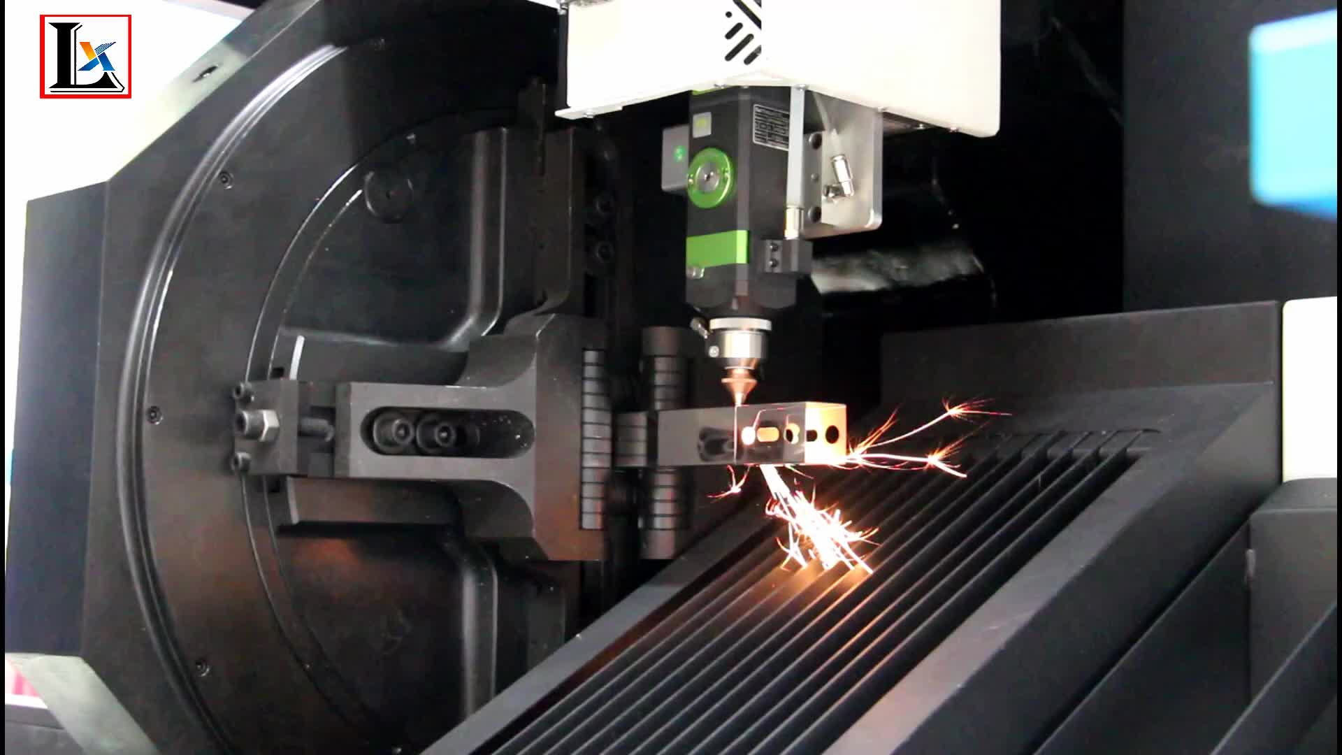 Easy operation flat and tube metal cutting 3d laser machine
